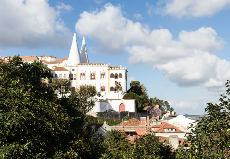 Palace Palacio Nacional De Sintra Eye4photography  EyeEm EyeEm Best Shots EyeEmBestPics Streetphotography Old Buildings Sky And Clouds Architecture From My Point Of View Greenery Vegetation Hidden Gems  EyeEm Gallery Taking Photos at Sintra Portugal