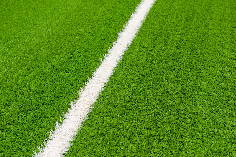 Close up of line on soccer field