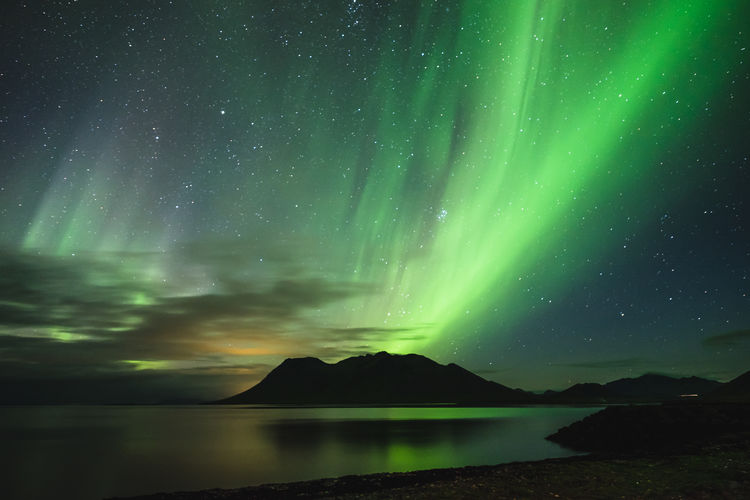 Aurora Borealis seen over the Snæfellsnes Peninsula, Iceland Aurora Aurora Borealis Beautiful Beauty In Nature Cold Epic Green Iceland Icelandic Icelandic Nature Landscape Landscape_Collection Mountain Night Sky Northern Lights Phenomenon Purple Reflection Sky Stars Tourism Travel Travel Destinations Wonder