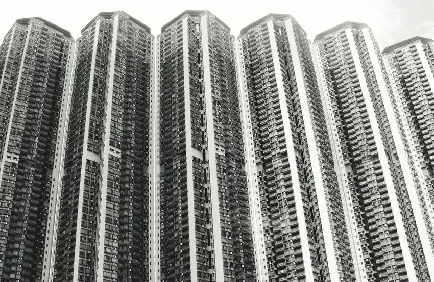 Standing Tall Buildings Over Populated Heights Apartments