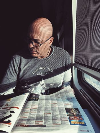 Canvas One Man Only Only Men One Person Adults Only Men Completely Bald Eyeglasses  Looking Down Adult Sitting Indoors  Businessman Shaved Head Hair Loss Working Human Body Part Day Uniqueness מייאייפון7 Shotoniphone7plus IPhone7Plus Mydtrainmoments Mytrainmoments Portrait The Portraitist - 2017 EyeEm Awards It's About The Journey