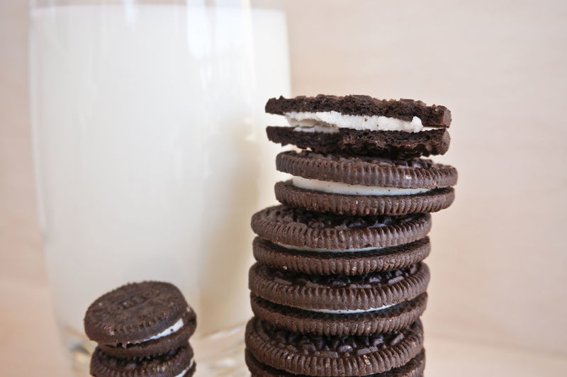 Close-up of cookies on table