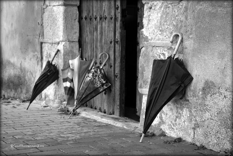 Waiting... Umbrellas Black And White Eye For Details Enjoying Life