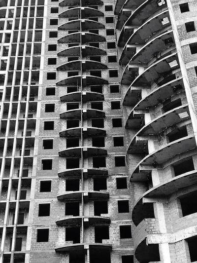 Architecture Unliving Life Blackandwhite