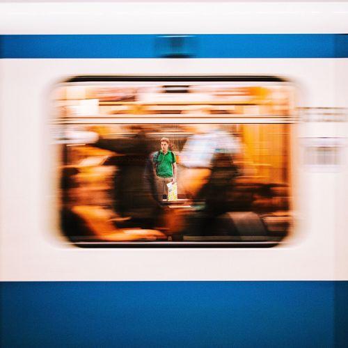 My Year My View Blurred Motion Public Transportation Motion Subway Train Passenger Train Speed Train - Vehicle Rush Rush Hour The Drive Colors Amazing Sebastianriegerphotos Streetphotography Munich Mucsp Subway The Street Photographer - 2017 EyeEm Awards EyeEmNewHere