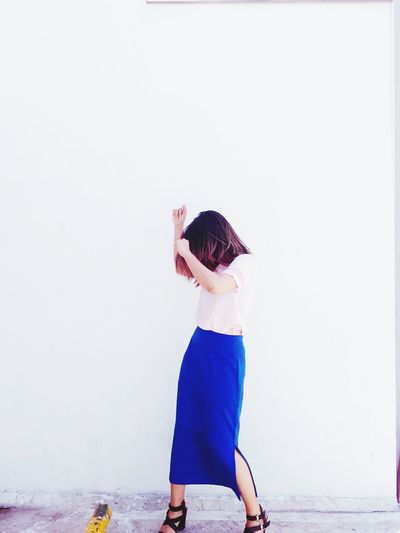Dancing Dance Day Girl Ombre Hair Long Skirt Blue Sunnyday Short Hair
