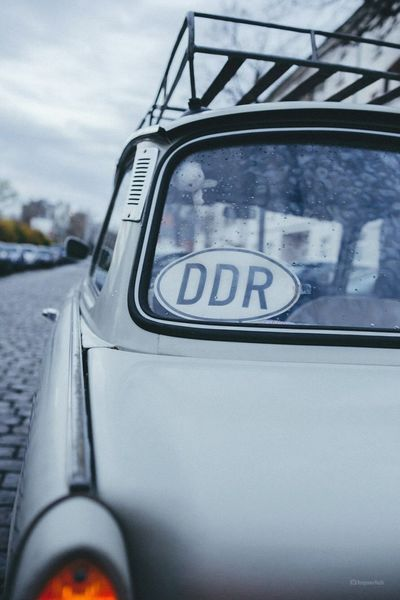 Greeting from GDR :D GDR Berlin Notes From Berlin Trabant Flag Trabi Car Streetphotography Street