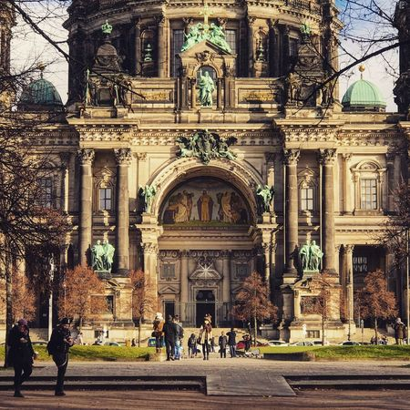 Building Exterior Architecture Built Structure Religion Place Of Worship Large Group Of People Façade Travel Destinations Berlin Museum Island Berlin Photography Berliner Dom City Lifestyles Outdoors Arch Entrance Leisure Activity History Men Day Women Statue