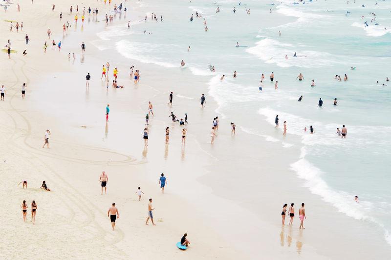 Beach #beach Australia Beach Bondi Bondi Beach People Sand Sea Summer Sydney Water The Great Outdoors - 2017 EyeEm Awards Adventures In The City Visual Creativity