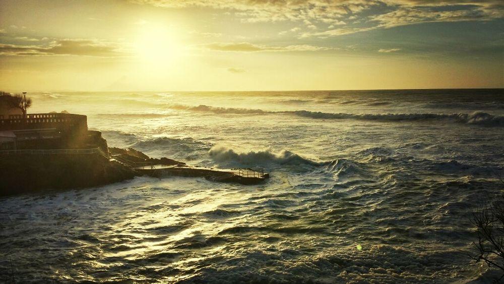 Biarritz Rocher De La Vierge Ocean