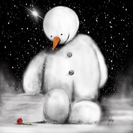 Ipadart Procreate Digital Painting Snow Roses Art Painting Drawing
