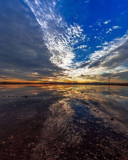 Yuma, AZ Yuma Sea Outdoors Sunset Nature Reflection No People Scenics Water Landscape Sky Cloud - Sky Night Tranquility Beauty In Nature Wave Horizon Over Water Low Tide Astronomy Arizona
