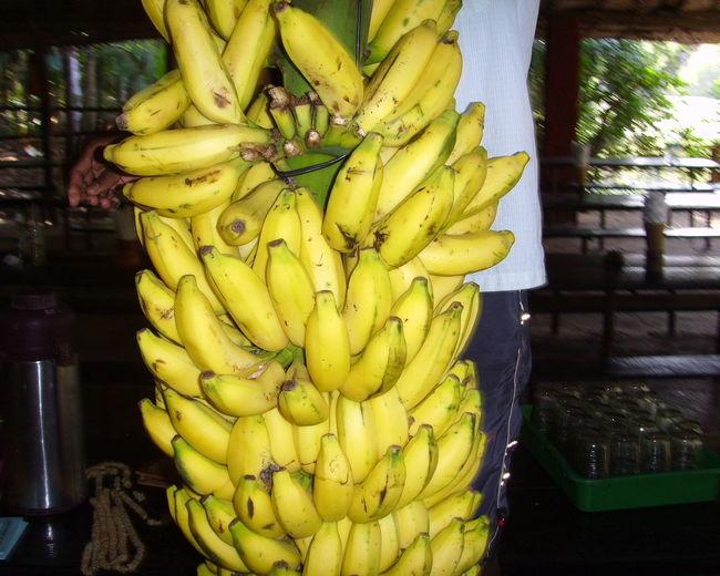 Abundance Banana Fresh Basket Close-up Focus On Foreground Fresh Produce Freshness Market Stall Yellow