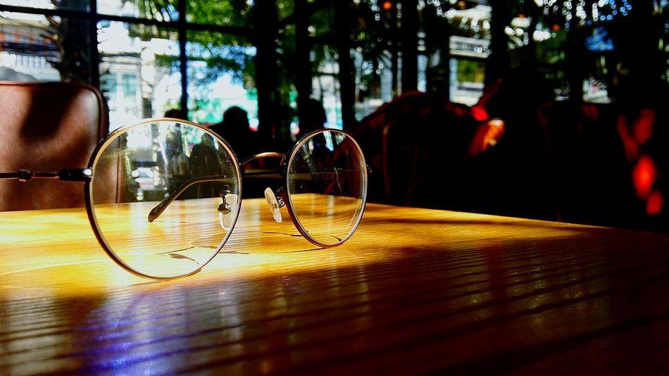 Glasses 🕶🕶🕶 Thailand EyeEmNewHere EyeEm Selects The Week on EyeEm Light And Shadow Close-up Glasses Tree Illuminated Reflection Office Building Building Rainy Season Gas Light