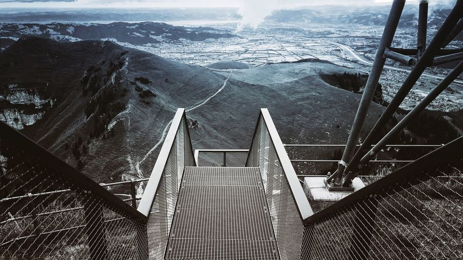 High Angle View Steps And Staircases Built Structure Outdoors The Way Forward Travel Destinations Architecture Mountain Hoher Kasten StreetLife_Award Outside Photography Outdoor Photography Photography Cloud - Sky Interesting Perspectives Architecture Moutains