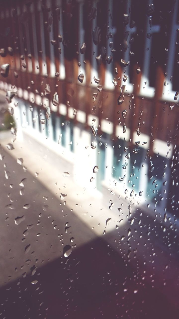 drop, rain, water, window, wet, full frame, backgrounds, raindrop, rainy season, no people, mode of transport, close-up, transportation, indoors, land vehicle, day, airplane, airplane wing, nature