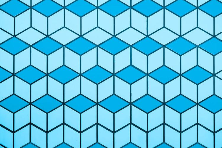 Full frame shot of blue window