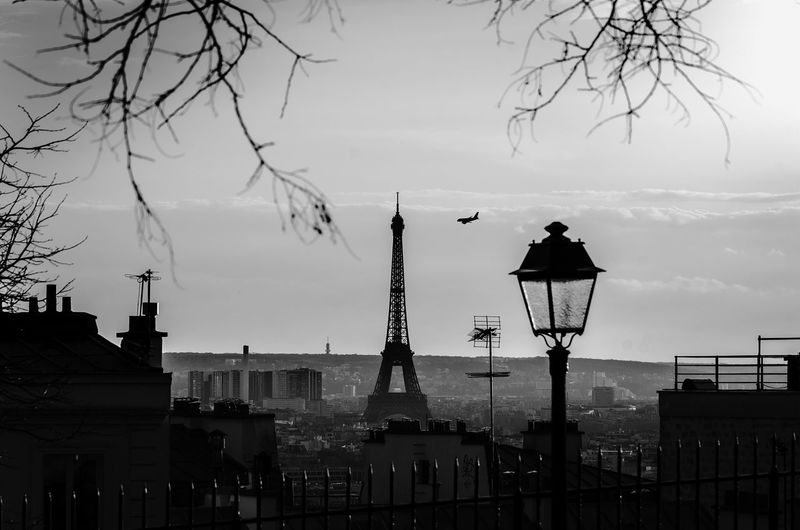 City Silhouette Architecture Travel Travel Destinations Sky Built Structure Tower Outdoors No People Cityscape Day Apocalypse Apocalyptic Flyght Eiffel Tower Eiffel Paris Bnw Black & White Black And White Blackandwhite Architecture City Urban The Architect - 2018 EyeEm Awards