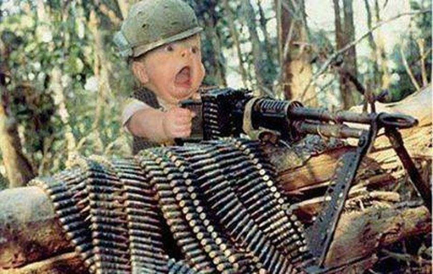 Army Baby Machinegun Check This Out