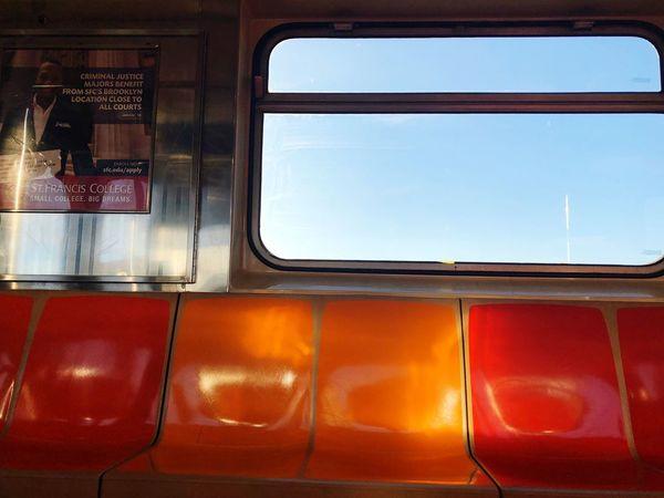 Window Train - Vehicle Public Transportation Transportation No People Mode Of Transport Rail Transportation Day Vehicle Seat Indoors  Sky