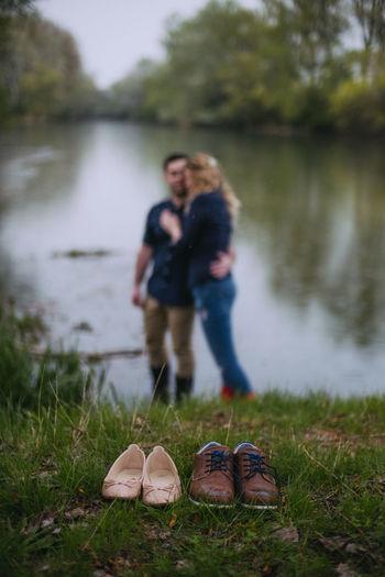 👞👠 Fujifilm Fujifilm_xseries Xpro2 The Week on EyeEm Water Togetherness Friendship Women Young Women Standing Bonding Lake Shoe Happiness Falling In Love Romance Couple