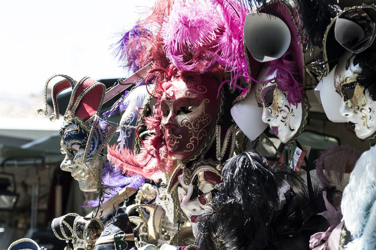 Color Colorful Colors Cultures Decoration Gift Masks Masks Decor Souvenirs Souvenirshop Still Life Traditional Culture Traditional Mask Variation Venice, Italy