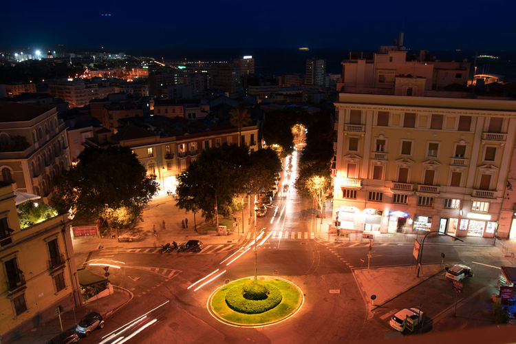View Architecture Bastione Bastionesaintremy Building Exterior Built Structure By Night Cagliari Cagliari By Night City Cityscape Illuminated Lights Trails Long Exposure Night No People Outdoors Portrait Sardinia Sea Sky Tree
