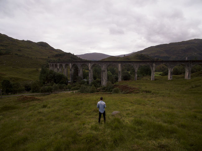 Drone  Harry Potter Man Train Tracks Travel Day Drone Photography Environment Explore Landscape Nature Outdoors Plant Train Viaduct