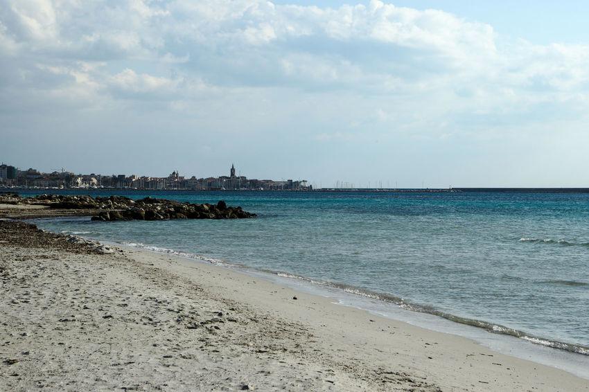 Alghero Beach Beauty In Nature Cloud - Sky Day Nature No People Outdoors Sand Sardinia Scenics Sea Sea And Sky Seascape Sky Water