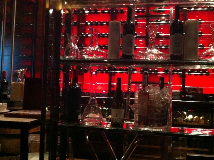 Prime steak and seafood cellar wine Red Color Winelover Wineglass Wine Bottles Decanter And Glassware Restaurant Decor Fine Dining Alcohol Drink Red Bar - Drink Establishment Nightlife Food And Drink Wine Bottle Wine Rack Wine Cellar Wine Cask Sommelier Winery Winetasting Corkscrew Wine Cork Cellar