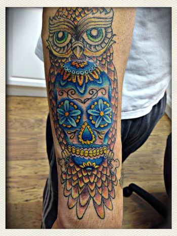 My owl tattoo Tattoo