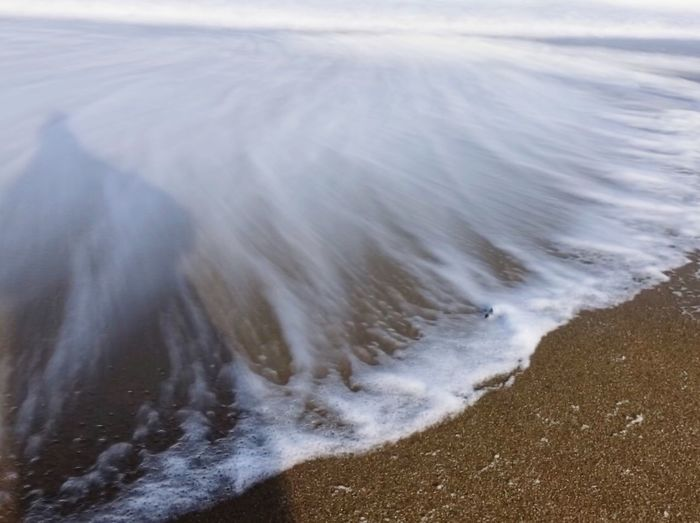 Seafoam Nature Wave Water Sea Beach Sand Day Beauty In Nature No People Outdoors Close-up Motion