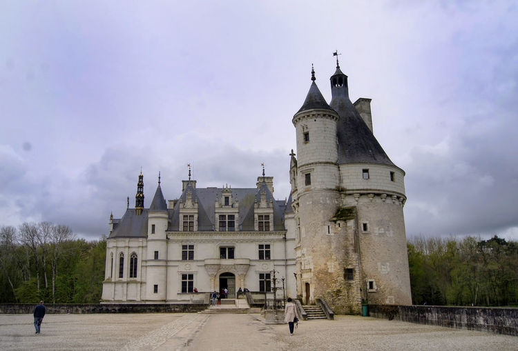 Castle Chenonceau Nature Tourist Attraction  Architecture Building Exterior Castle Chenonceau Castle View  Chenonceaux History Travel Destinations