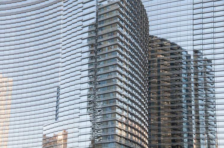 Las Vegas Reflections Glass Architecture Pattern Pieces