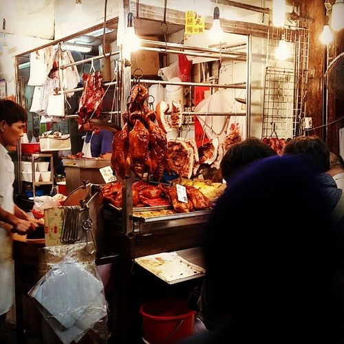 Meat on the streets of Hong Kong! Butcher HongKong