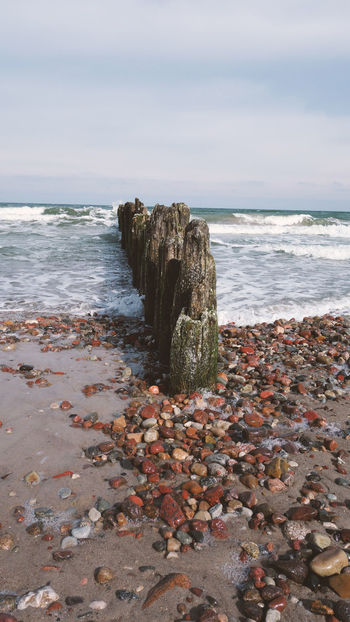 Beach Beachphotography Beauty In Nature Day Horizon Horizon Over Water Land Motion Nature No People Outdoors Pebble Rock Rock - Object Scenics - Nature Sea Sky Solid Stack Rock Stones Tranquil Scene Tranquility Water Wave Waves