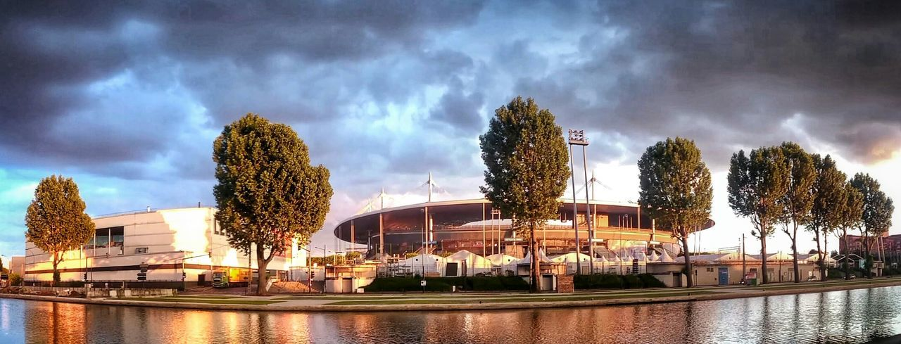 Scanaki Sunny And Strom. Stade De France Just4fun Taking Photos Sony Z2 Landscapes Euro2016 Monument Frankreich Landschaft フランス فرنسا франция Outside Canal Canal De Saint-denis Sdf Panoramic Sky Water Built Structure River No People Cloud - Sky Outdoors Waterfront The Traveler - 2018 EyeEm Awards The Still Life Photographer - 2018 EyeEm Awards The Creative - 2018 EyeEm Awards The Architect - 2018 EyeEm Awards
