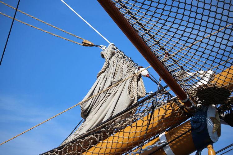 Low Angle View Cable Day Outdoors No People Sky Nature Tall Ship Sailing Ship Amarigo Vespucci Nautical Vessel Transportation