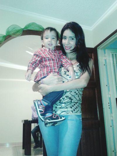 Con mi bebé hernoso ♥♥