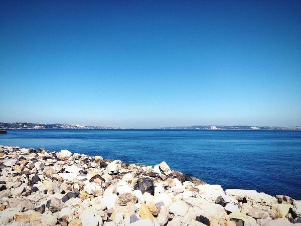 EyeEm Selects Water Sea Beach Clear Sky Blue Sand Sky Horizon Over Water Close-up Coast Seascape Rocky Coastline Water Vehicle Ocean