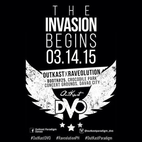 Get ready as @outkastparadigm steals the Davao scene! Invasion begins this Saturday at Crocodile Park Concert Grounds! See you all at RaveolutionPH !! 😎🙌🙏 OutkastDVO OutkastParadigm