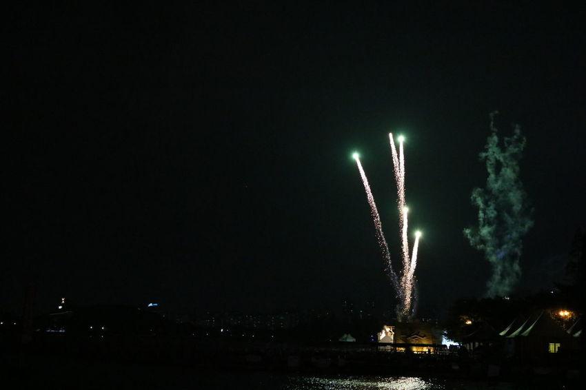 Exploding Illuminated Night