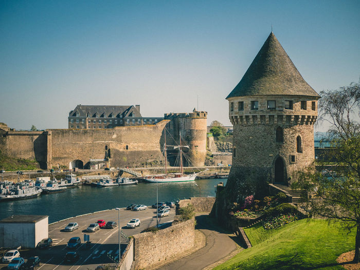 Tour Tanguy & Castle - Brest Architecture Clear Sky Building Day History The Past Travel Destinations Brest Bretagne Brittany River Fortification Tower Tour Tanguy Château Castle Sunny City Cityscape Medieval Heritage France Finistere Europe Travel