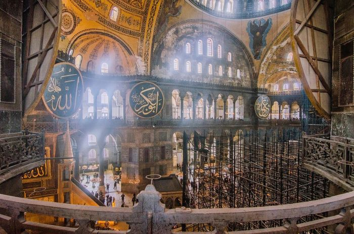 inside hagia sofia Not Suitable For Market Lights Hagia Sophia Church Churches Inside Church Worship Turkey Istanbul Religion No People Place Of Worship Travel Destinations Architecture