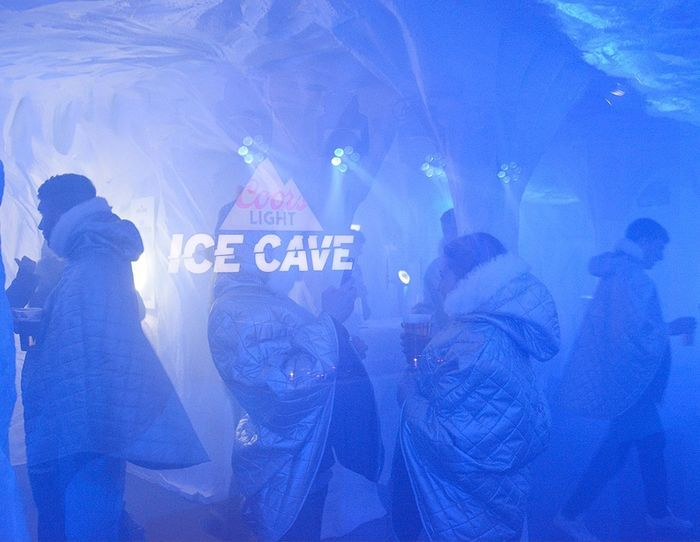 Coors Light Ice Cave Icecaverave Glasgow
