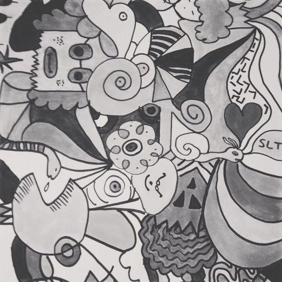 Art Black & White Drawing My Art