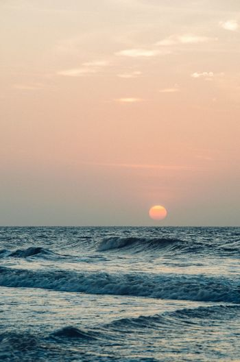 Wave Water Sea Sunset Astrology Sign Beach Sun Astronomy Orange Color Sunlight