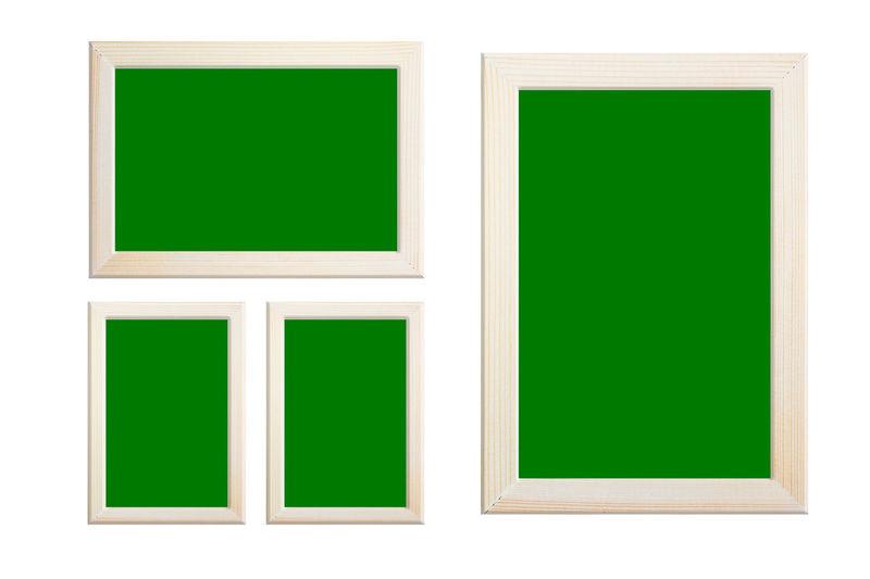 Multi colored empty green paper
