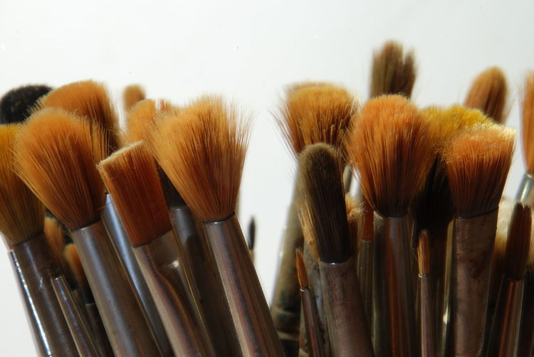 Artist Brushes Artist Studio Close-up Day Indoors  No People Painting Brushes Sable Brushes Studio Shot