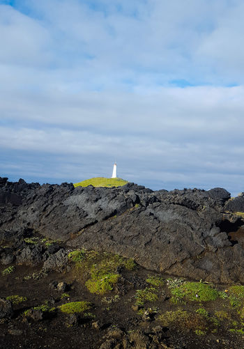 Lighthouse Mytown Mytours Travel Destinations Hoffy Privatetours 2018 Lava Moose Moom Reykjanes Geopark Sky Cloud - Sky Volcanic Rock Volcanic Landscape Coast Rocky Coastline